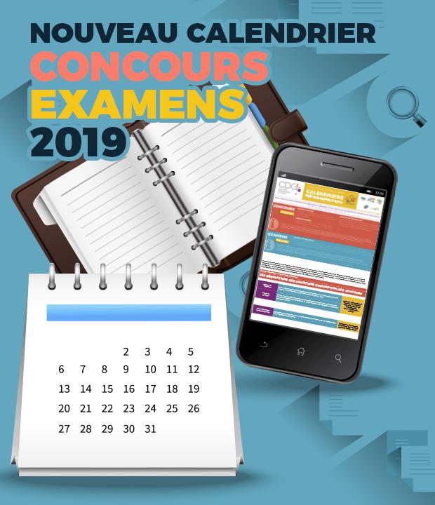 Calendrier des Concours et Examens Professionnels 2019!